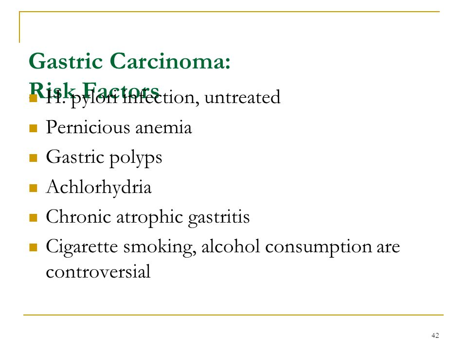 Gastric Carcinoma: Risk Factors