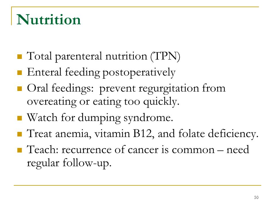 Nutrition Total parenteral nutrition (TPN)