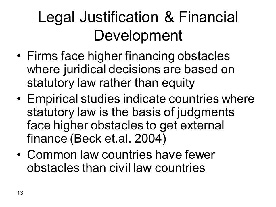 Legal Justification & Financial Development