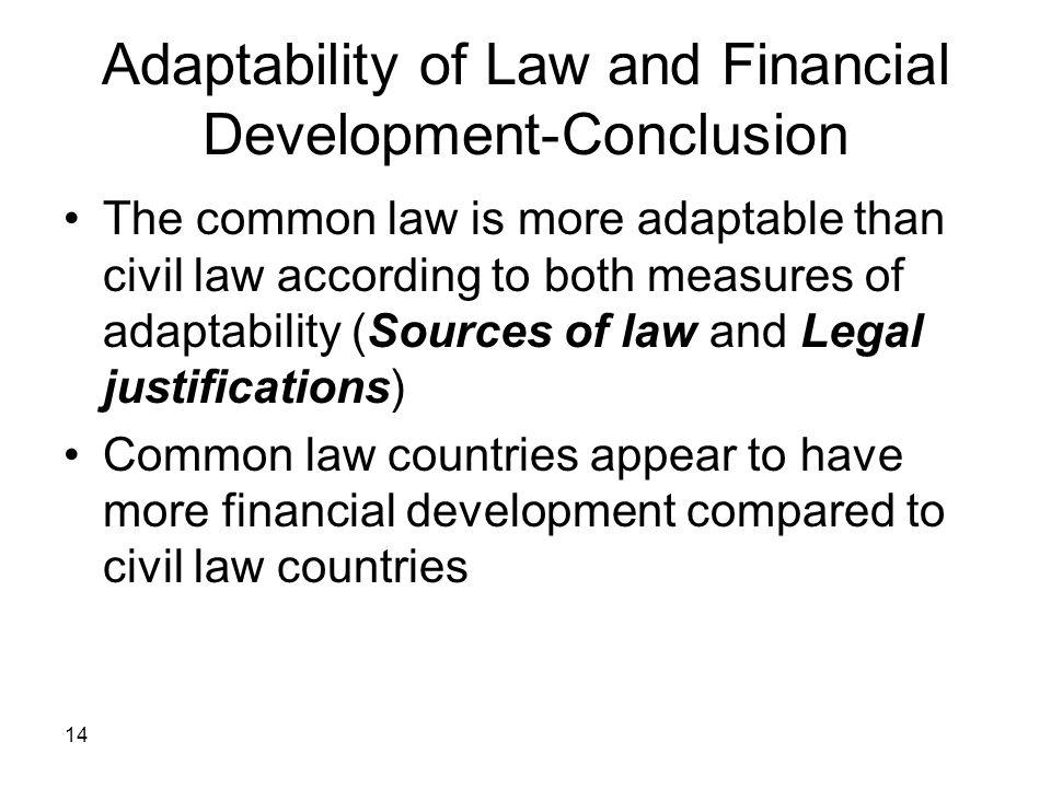 Adaptability of Law and Financial Development-Conclusion
