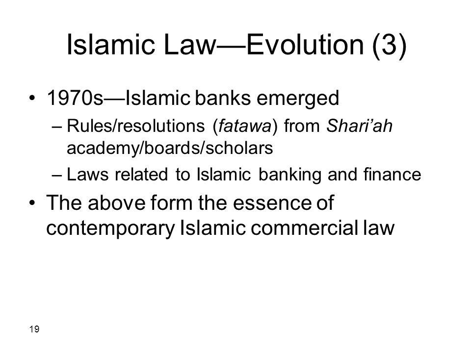 Islamic Law—Evolution (3)