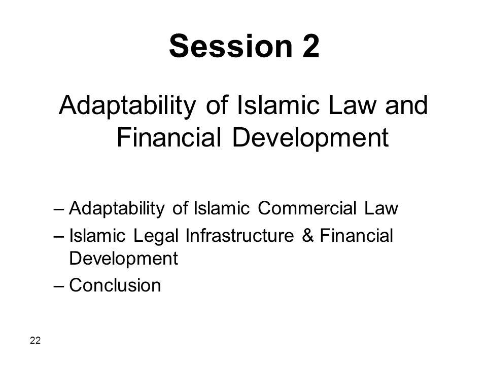 Adaptability of Islamic Law and Financial Development
