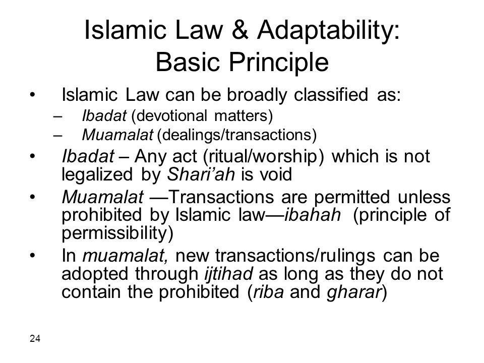 Islamic Law & Adaptability: Basic Principle