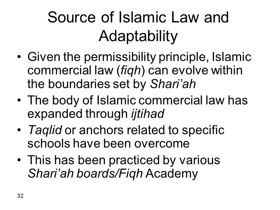 Source of Islamic Law and Adaptability
