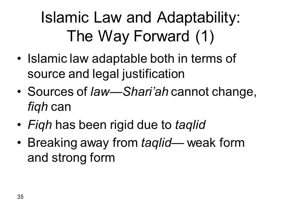 Islamic Law and Adaptability: The Way Forward (1)