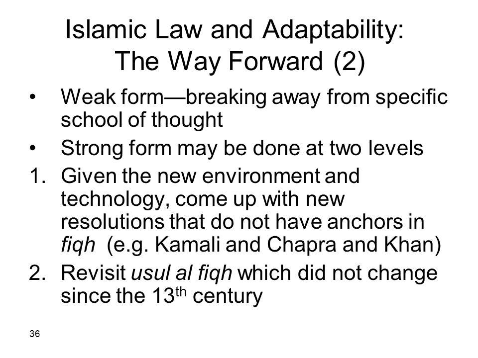 Islamic Law and Adaptability: The Way Forward (2)