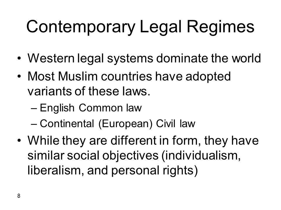 Contemporary Legal Regimes