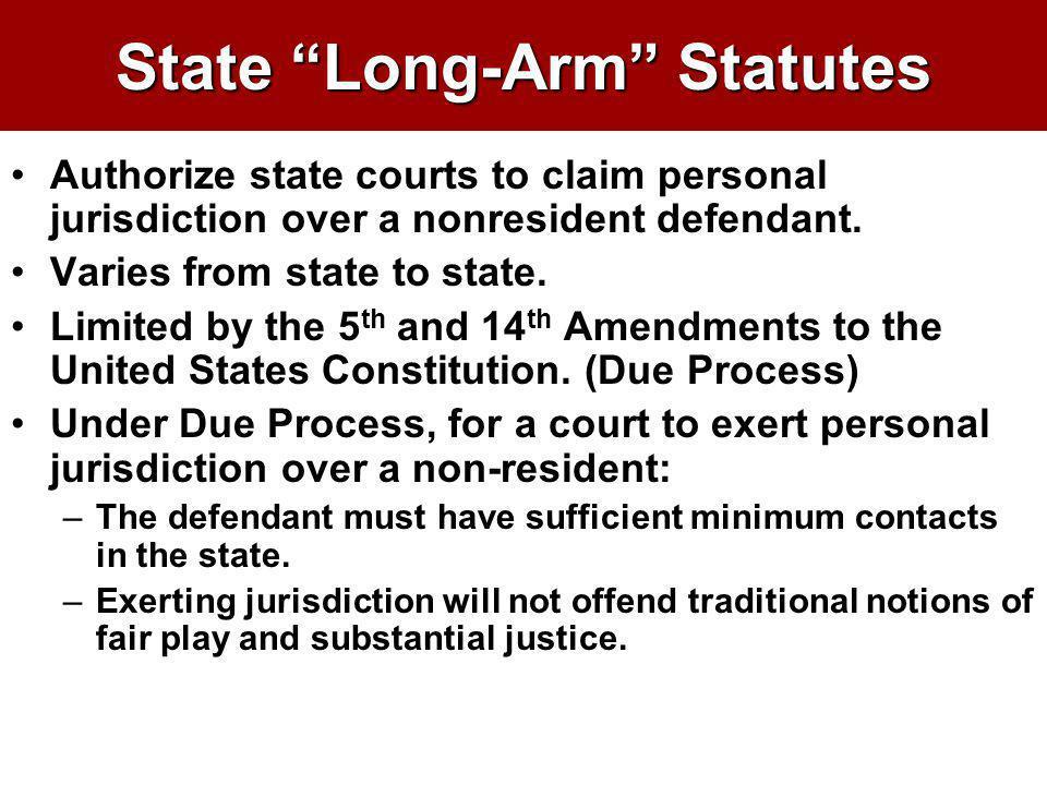 State Long-Arm Statutes