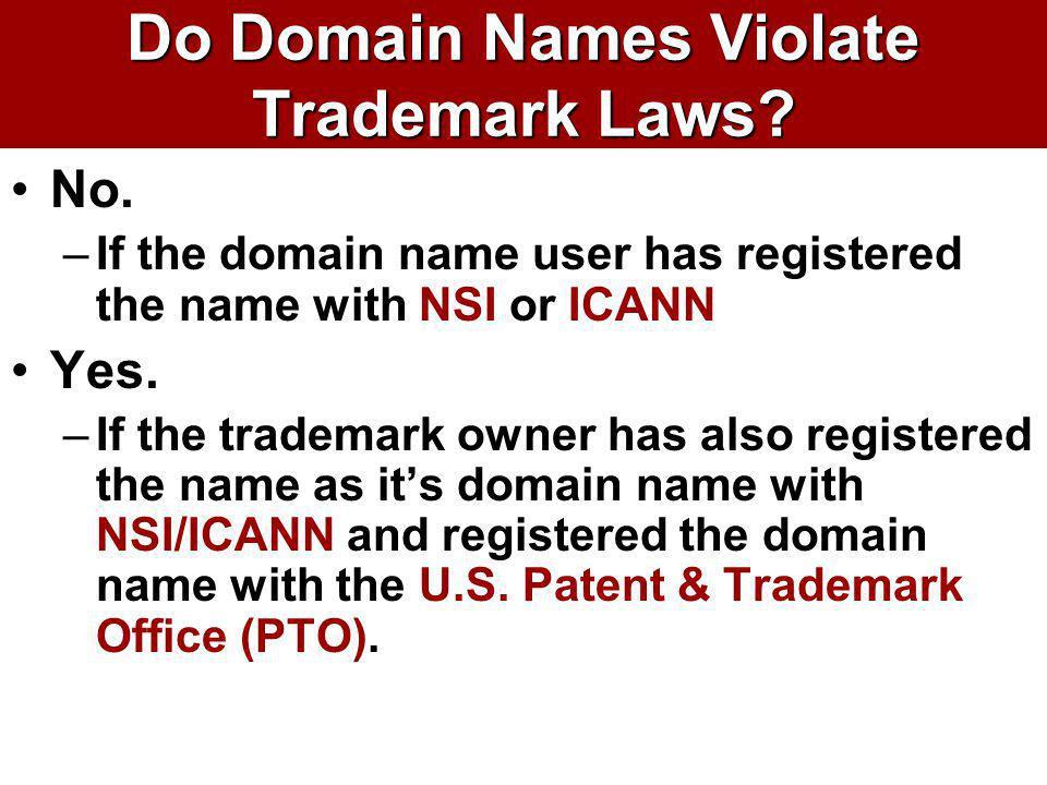 Do Domain Names Violate Trademark Laws