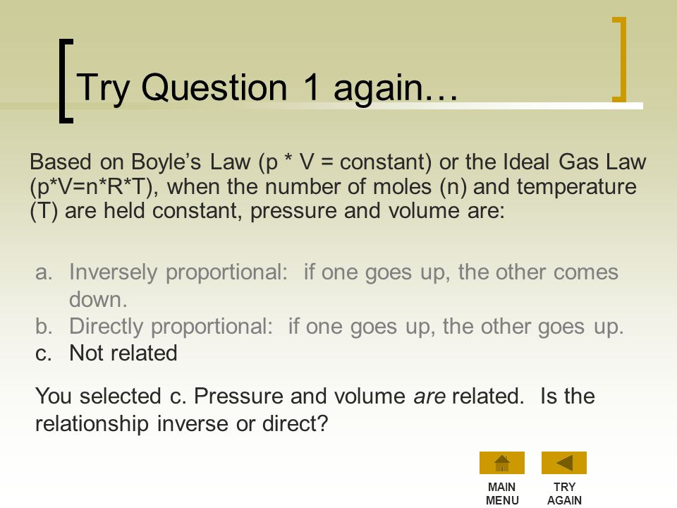 Try Question 1 again…