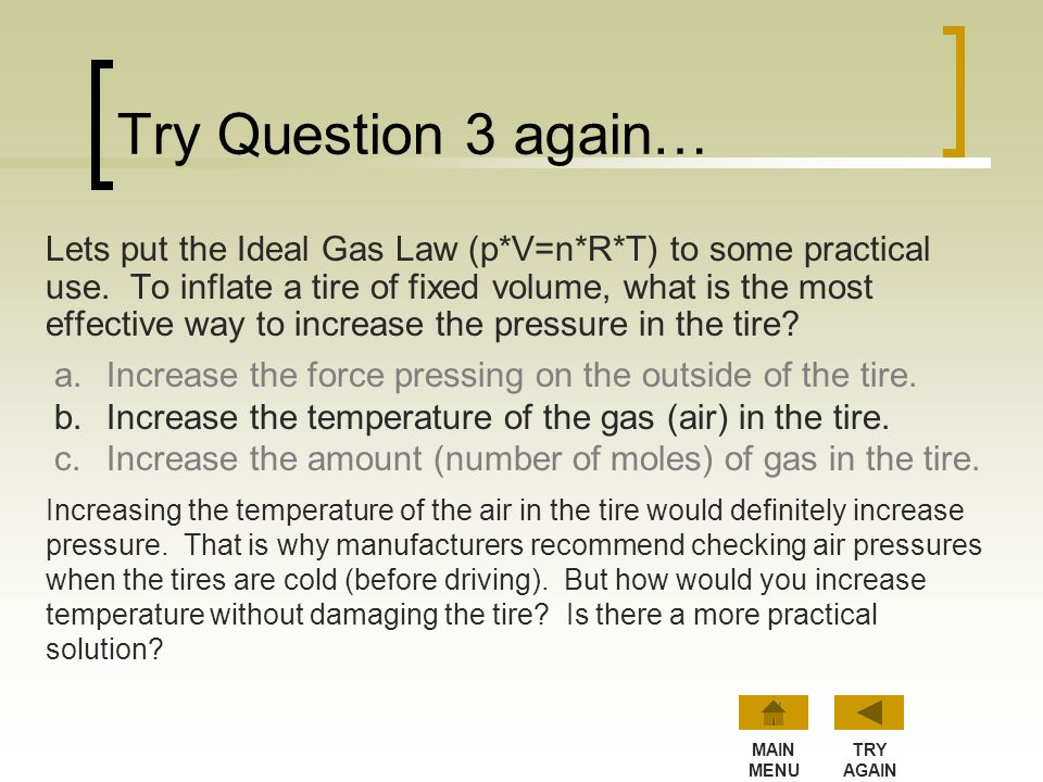 Try Question 3 again…