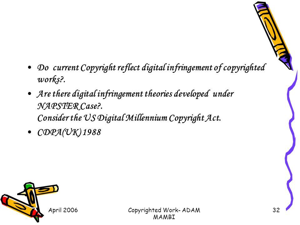 Copyrighted Work- ADAM MAMBI