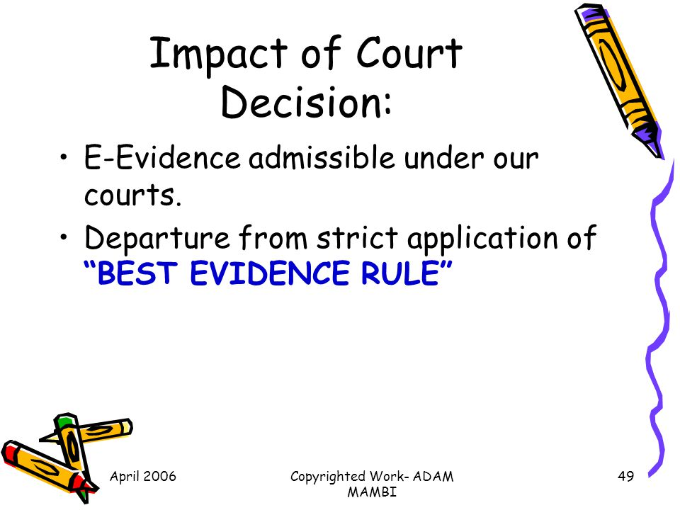 Impact of Court Decision: