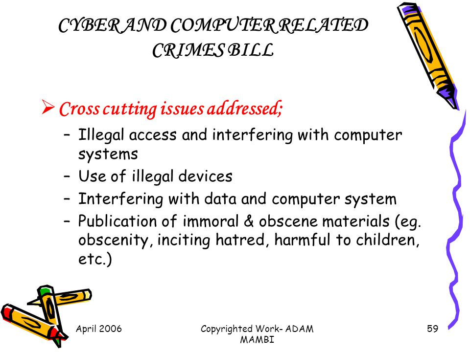 CYBER AND COMPUTER RELATED CRIMES BILL
