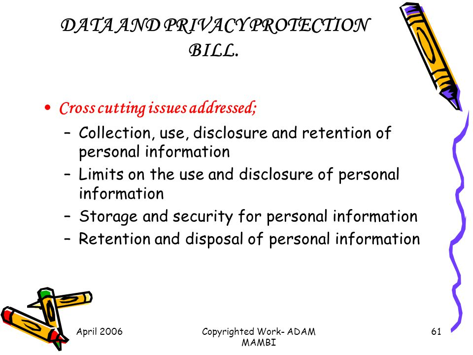 DATA AND PRIVACY PROTECTION BILL.