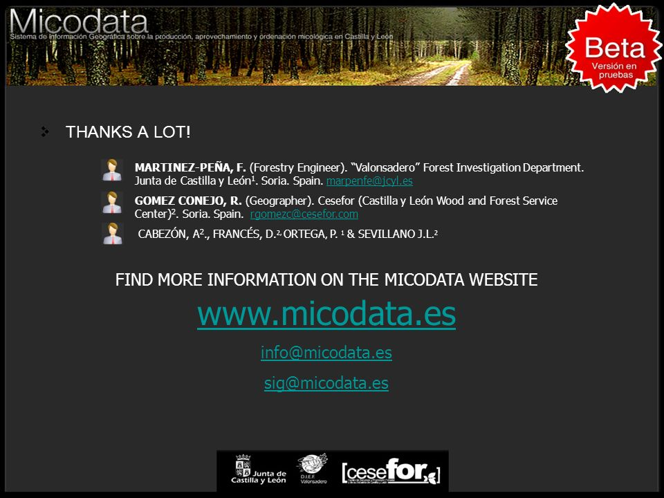FIND MORE INFORMATION ON THE MICODATA WEBSITE www.micodata.es