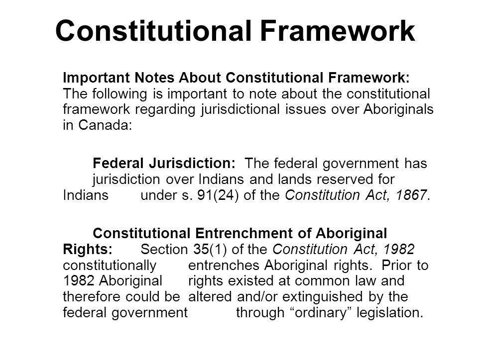 Constitutional Framework