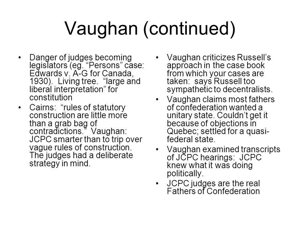 Vaughan (continued)