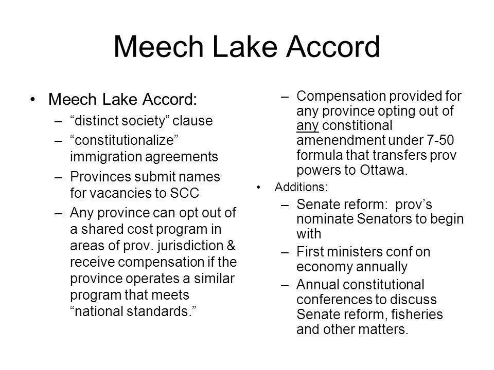Meech Lake Accord Meech Lake Accord: