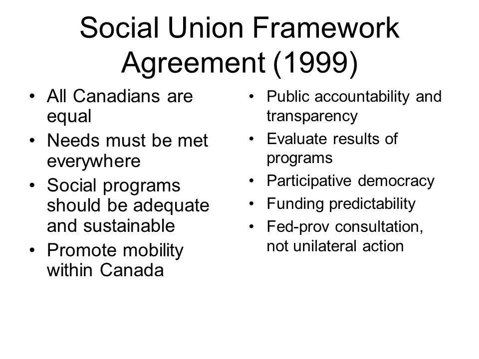 Social Union Framework Agreement (1999)
