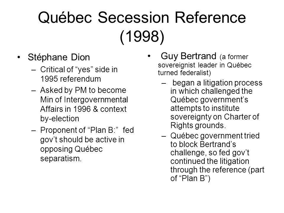Québec Secession Reference (1998)