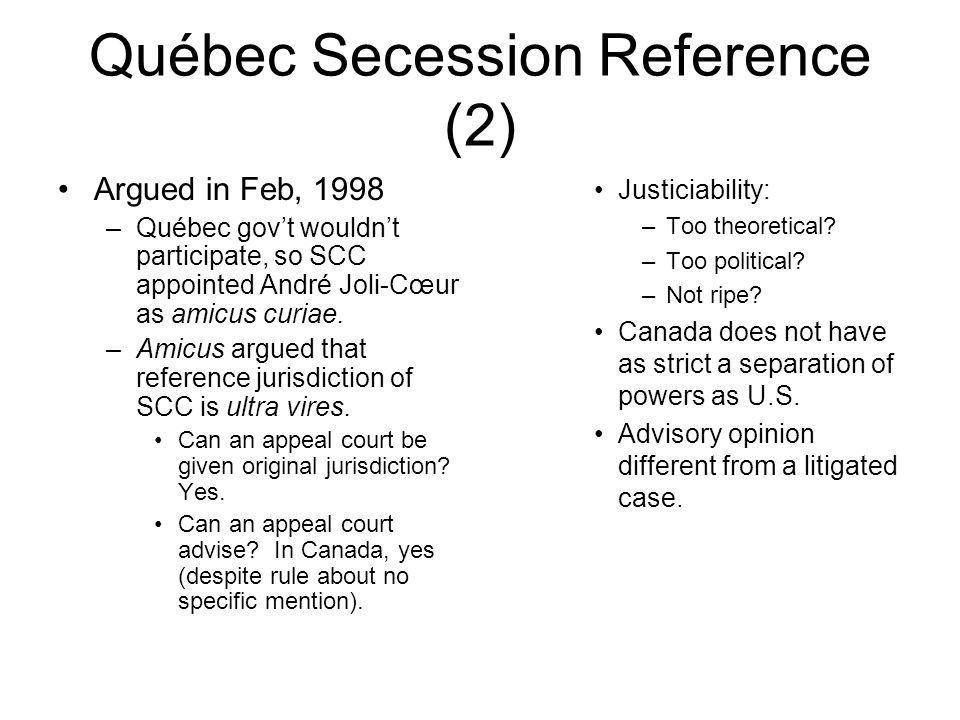 Québec Secession Reference (2)