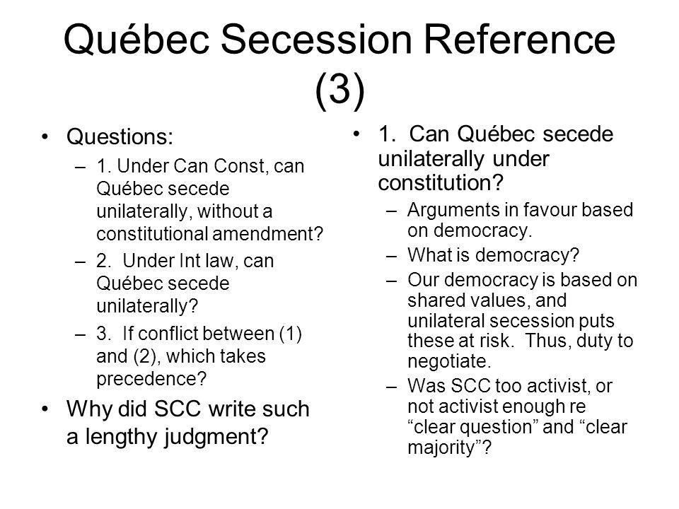 Québec Secession Reference (3)
