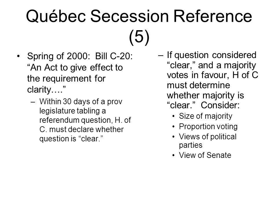 Québec Secession Reference (5)