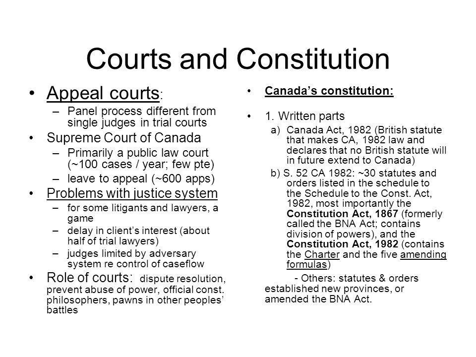 Courts and Constitution