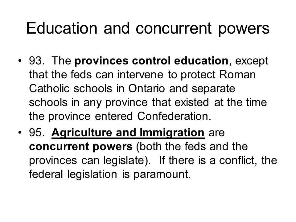Education and concurrent powers