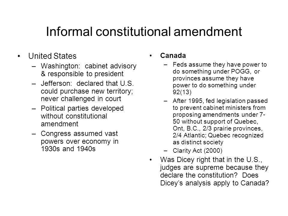 Informal constitutional amendment
