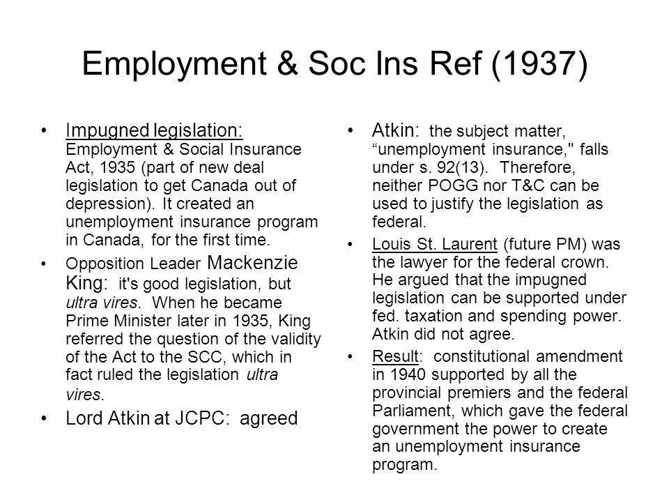 Employment & Soc Ins Ref (1937)