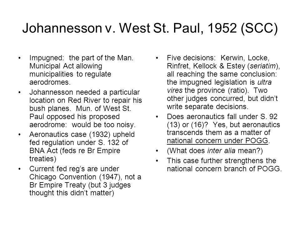 Johannesson v. West St. Paul, 1952 (SCC)