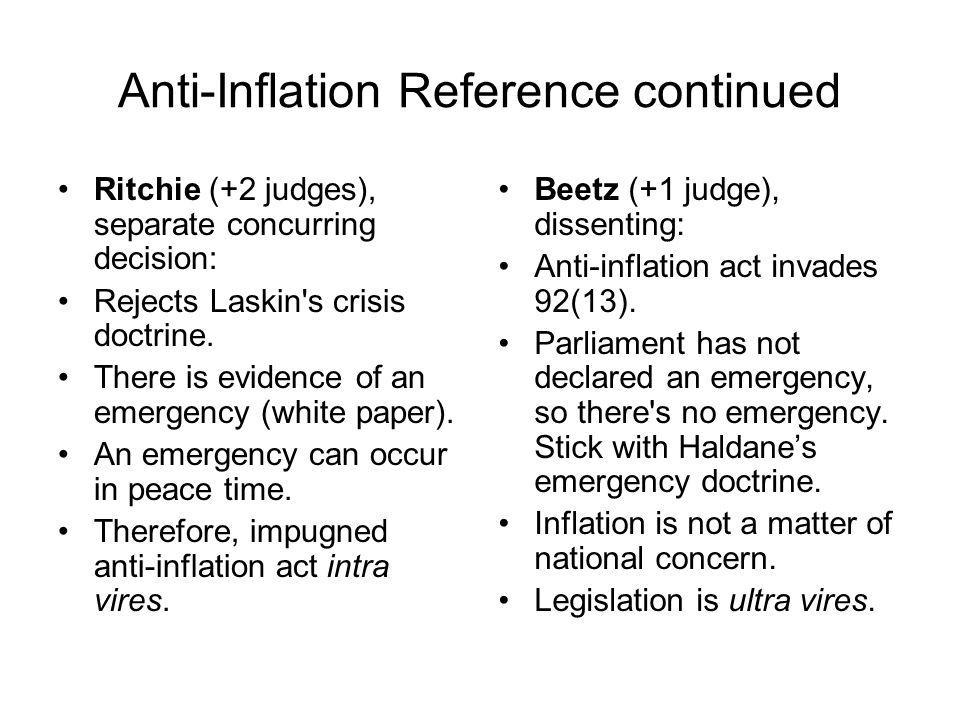 Anti-Inflation Reference continued