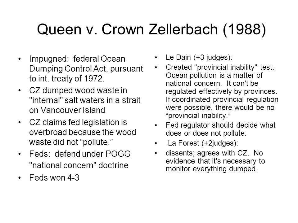 Queen v. Crown Zellerbach (1988)