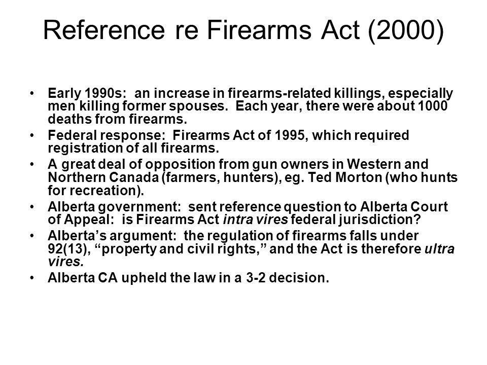 Reference re Firearms Act (2000)