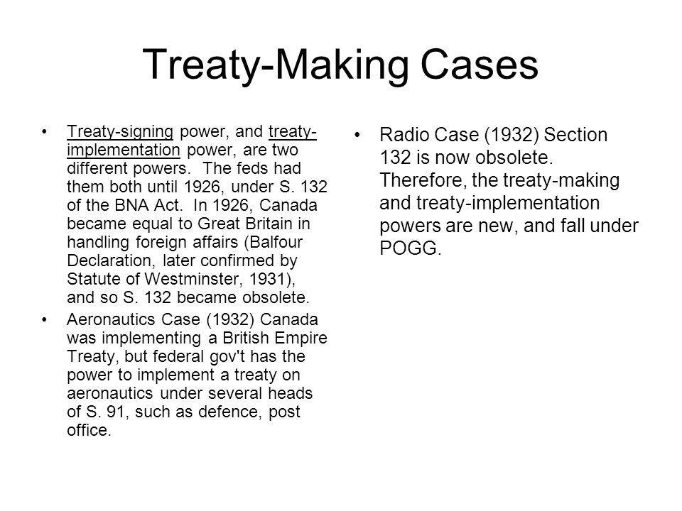 Treaty-Making Cases