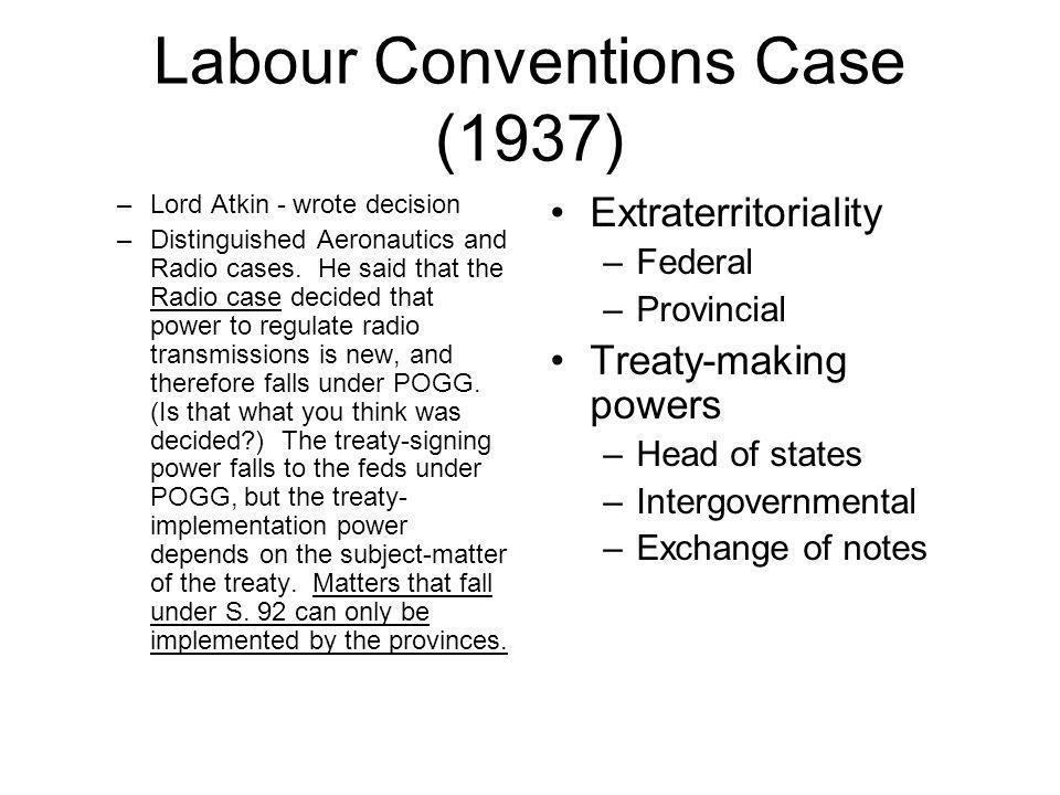 Labour Conventions Case (1937)