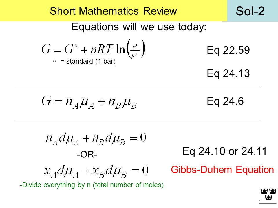 Short Mathematics Review