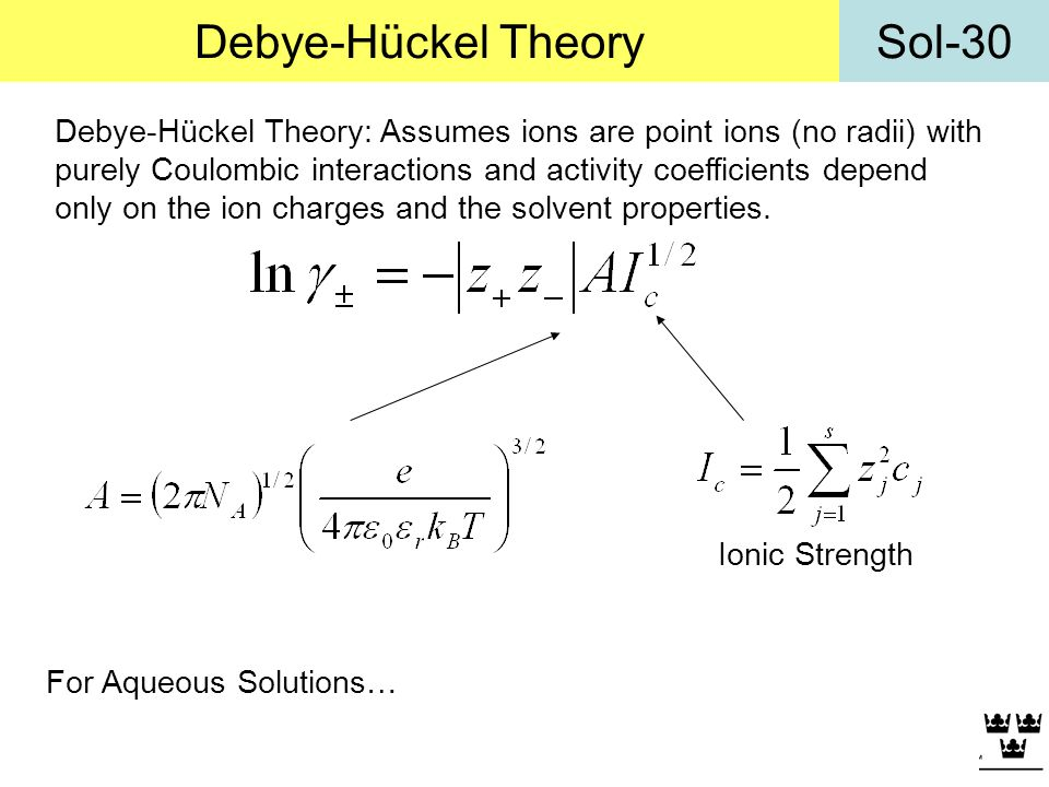 Debye-Hückel Theory