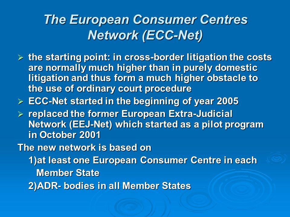 The European Consumer Centres Network (ECC-Net)