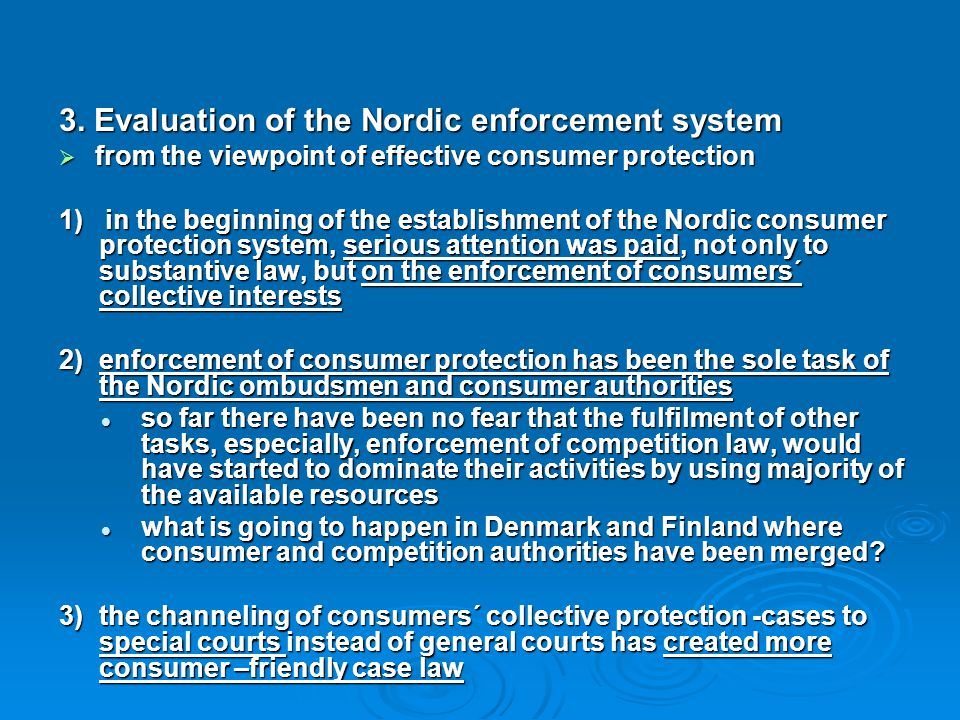 3. Evaluation of the Nordic enforcement system