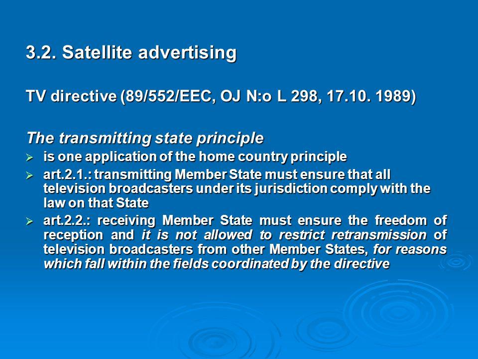 3.2. Satellite advertising