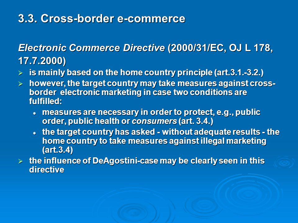 3.3. Cross-border e-commerce