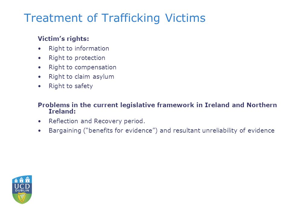 Treatment of Trafficking Victims