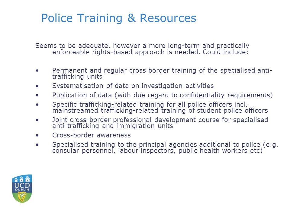 Police Training & Resources