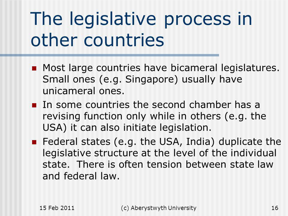 The legislative process in other countries