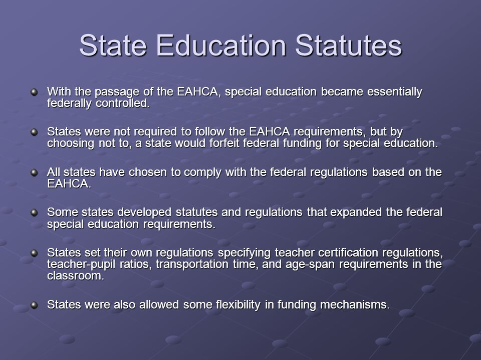 State Education Statutes