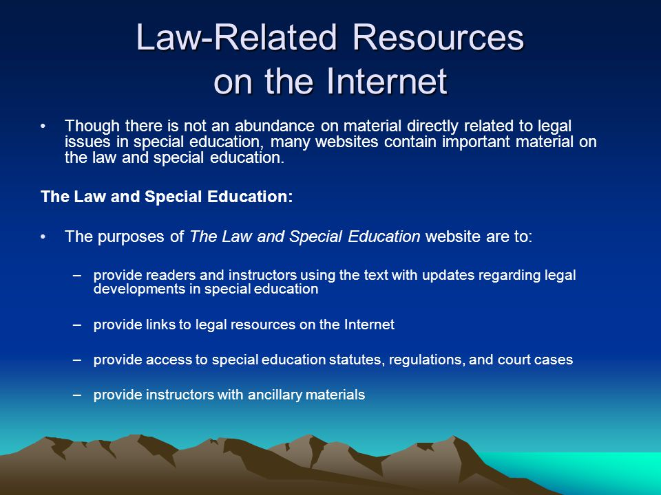 Law-Related Resources on the Internet