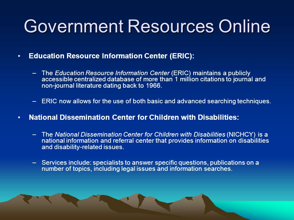 Government Resources Online